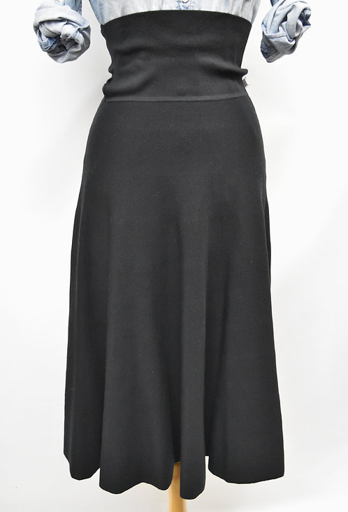 The Row Black Knit A-Line Skirt Size Small