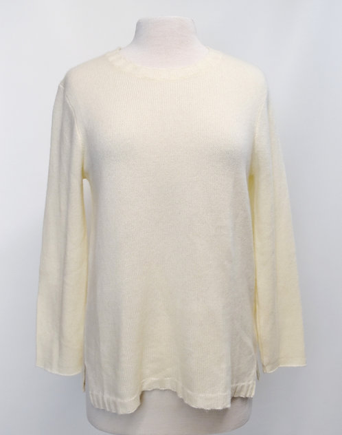 James Perse Ivory Cashmere Knit Sweater Size Large