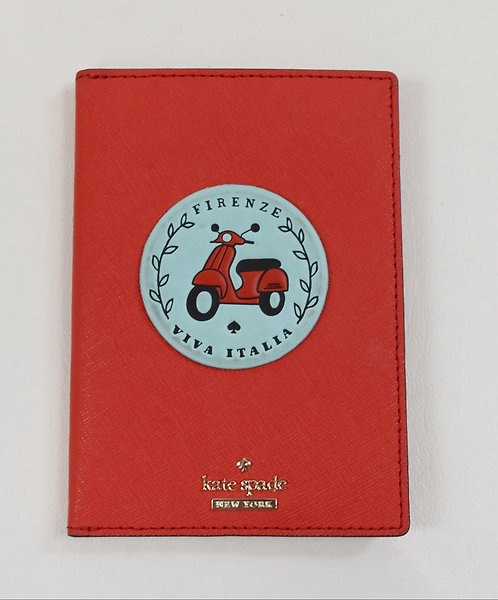 Kate Spade Red Leather Passport Cover