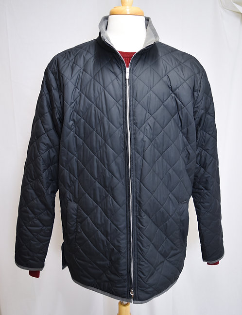 Peter Millar Black Quilted Jacket Size Large
