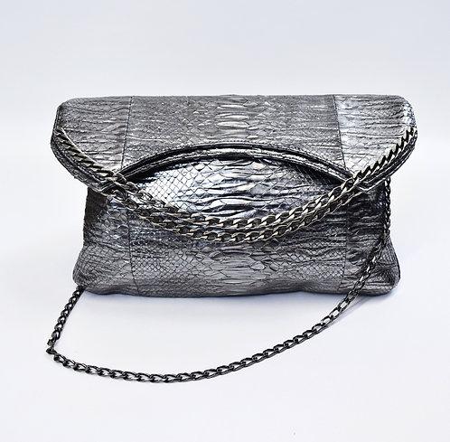 Mods + Rockers Silver Python Leather Crossbody