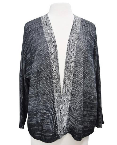 Eileen Fisher Black & Gray Cardigan Size Medium