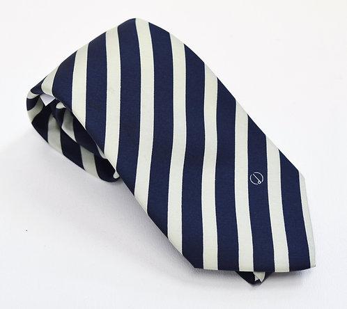 Dunhill Navy & Light Blue Stripe Silk Tie