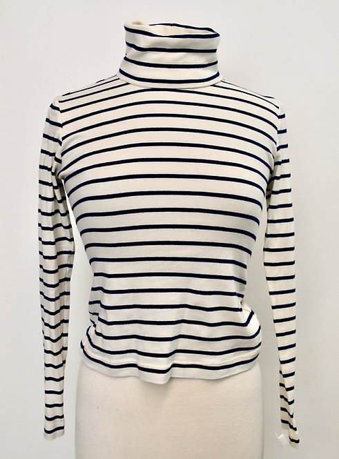 Veronica Beard White Stripe Sweater Size Small