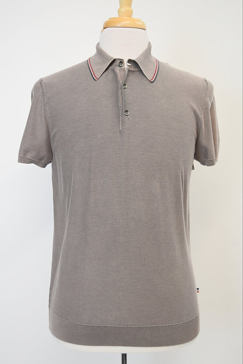 Moncler Tan Slim Fit Polo Size Large/XL