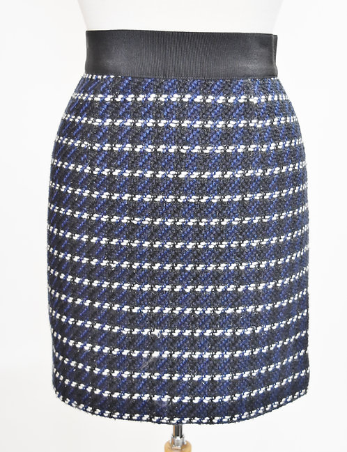 Milly Black & Blue Knit Skirt Size 0