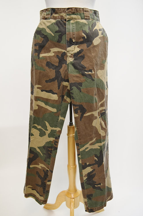 R13 Green Camo Print High Rise Pants Size 28
