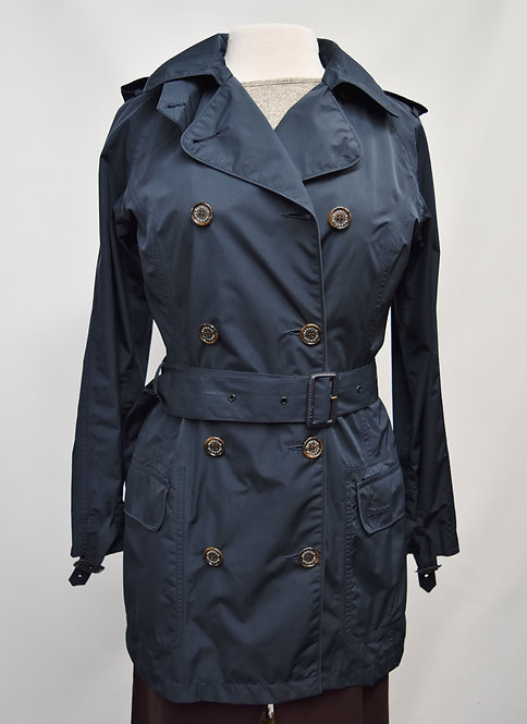 Barbour Navy Trench Coat Size 6