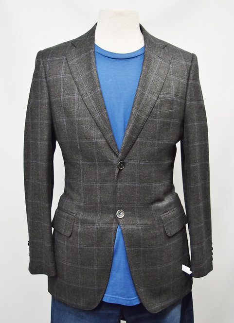 Napoli Gray Plaid Blazer Size 36R