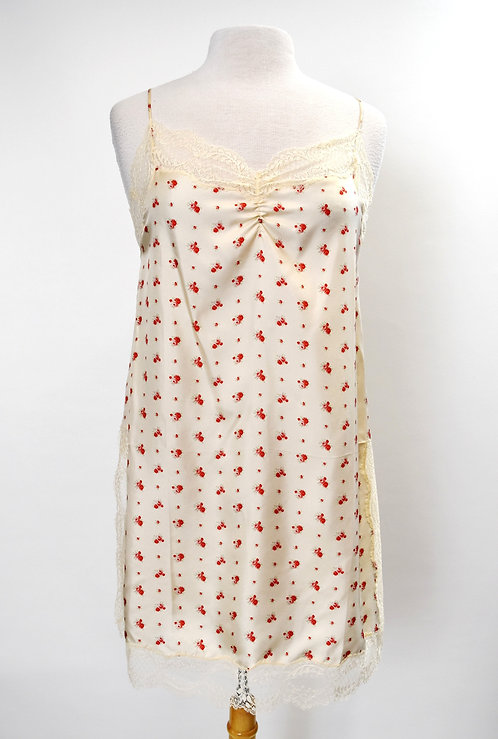 Gucci Ivory Floral Slip Dress Size Medium