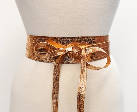Rachel Comey Rose Gold Metallic Belt Size Small