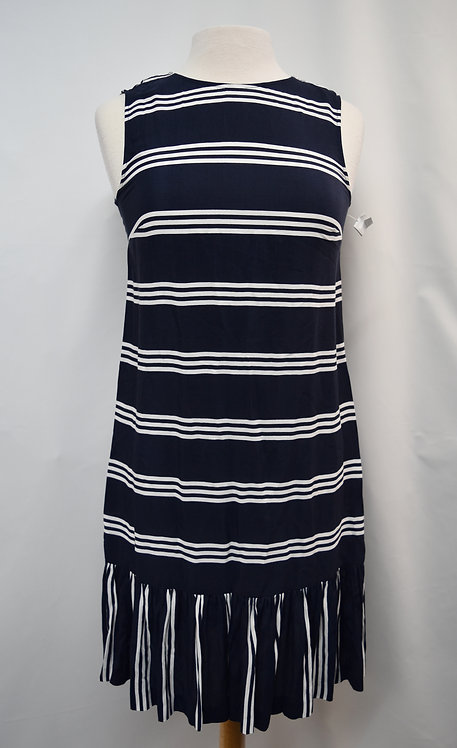 Hobbs Navy Stripe Dress Size 4