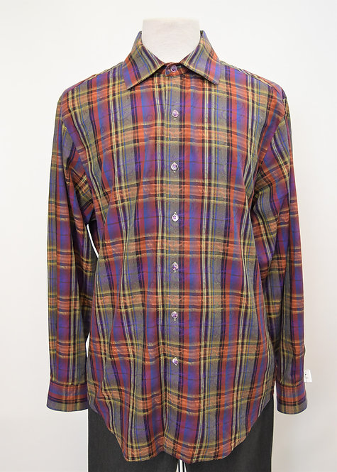 Robert Graham Multi Colored Plaid Shirt Size XL