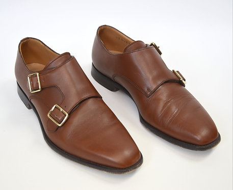 Bally Light Brown Leather Dress Shoes Size 9