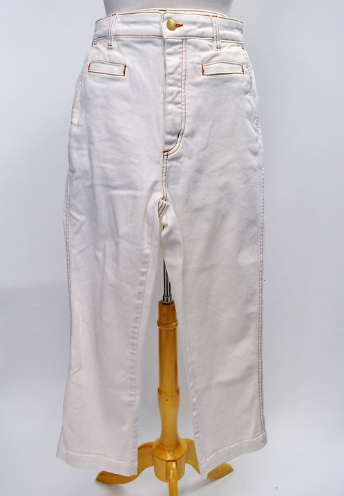 Loewe White High Rise Jeans Size 27