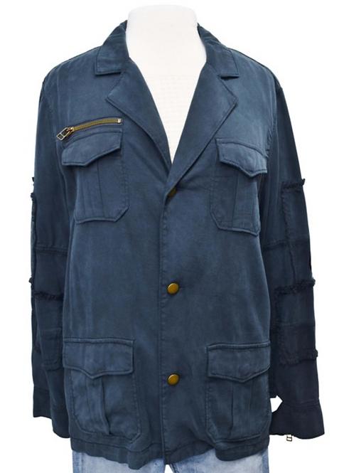 Pam & Gela Navy Jacket Size Large