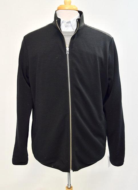 Theory Black Zip-Up Cardigan Size XL