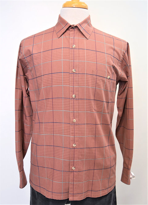 Christian Dior Salmon Plaid Shirt Size Medium