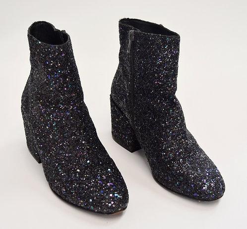 Ash Black Glitter Booties Size 8