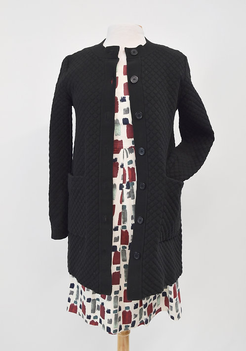 COS Black Quilted Knit Jacket Size XS