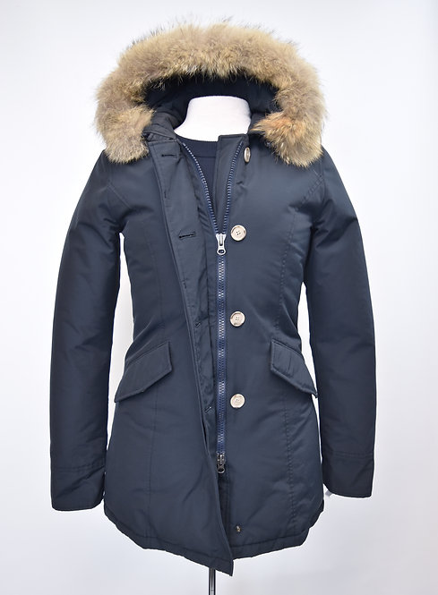 Woolrich Navy Puffer Coat Size Small