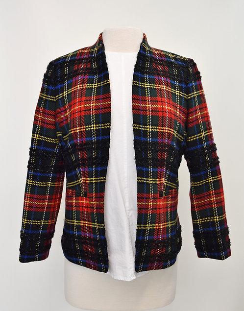 J. Crew Multi-Colored Plaid Blazer Size 8