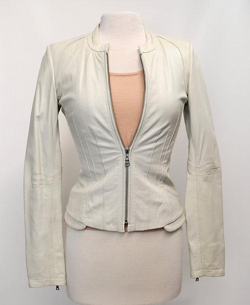 Danier Off-White Leather Jacket Size XS