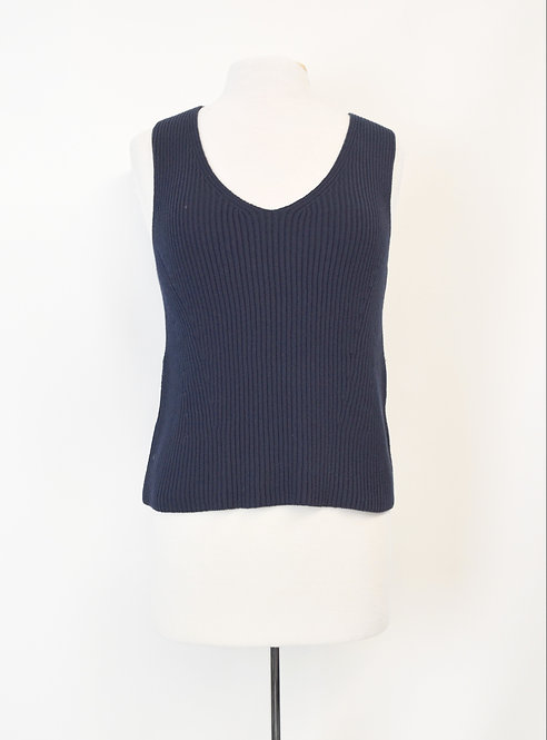 Vince Navy Knit Top Size Small