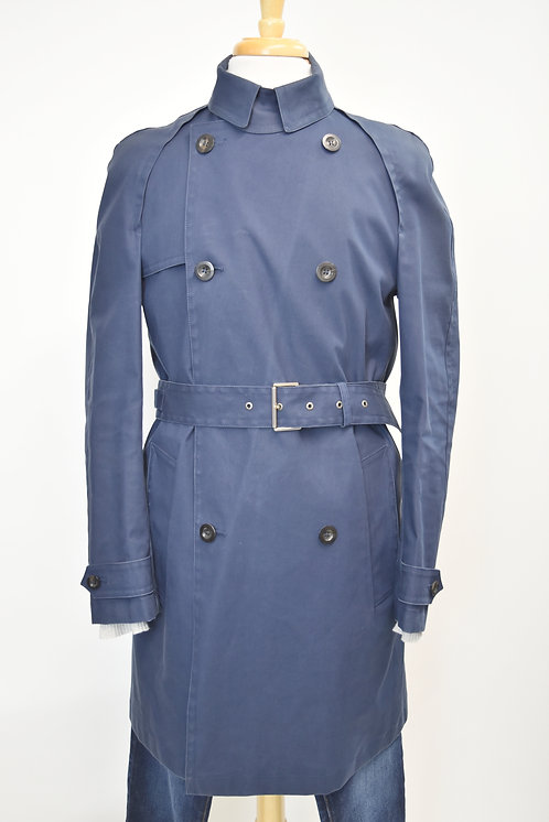 Gucci Navy Double-Breasted Trench Coat Size Medium (38)