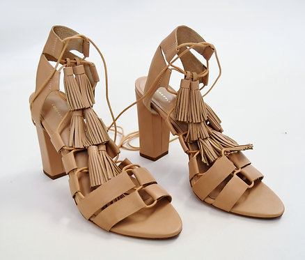 Loeffler Randall Tan Leather Strappy Heels Size 10