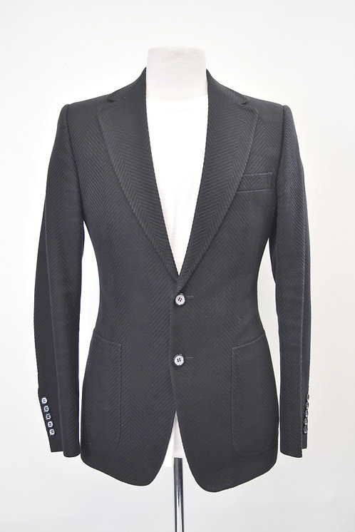 Gucci Black Chevron Blazer Size 38R