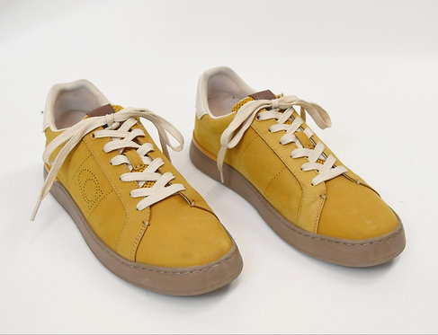 Coach Mustard Suede Sneakers Size 9