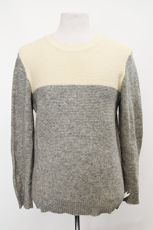 Gant Cream & Gray Knit Sweater Size Large