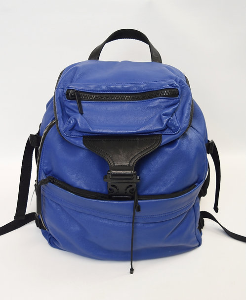 Alexander McQueen Blue Leather Backpack