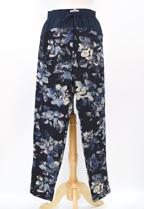 Rebecca Taylor Navy Print Pants Size Medium (8)