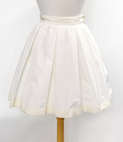 Moncler White Pleated Skirt Size XS