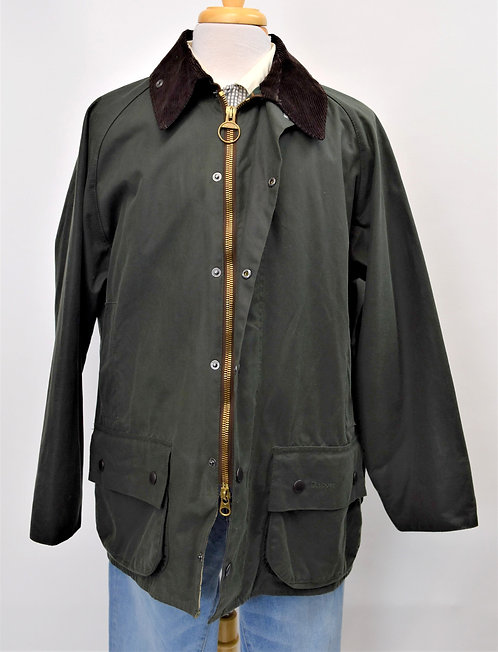 Barbour Green Beaufort Waxed Cotton Jacket Size XL
