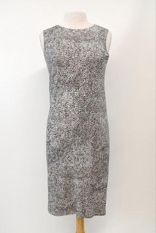 MaxMara Black & White Print Dress Size Small