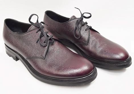Prada Burgandy Pebbled Leather Shoes Size 12
