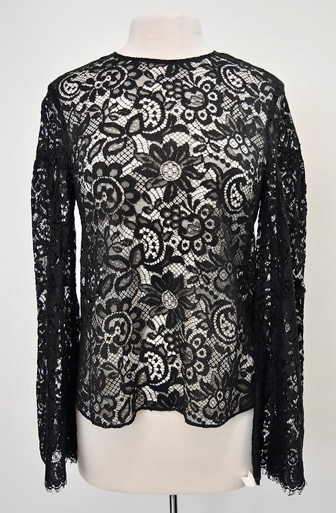 Creatures Of The Wind Black Lace Blouse Size Small