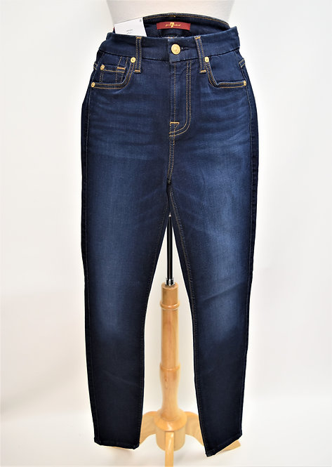 7 For All Mankind Dark Wash Skinny Jeans Size 25