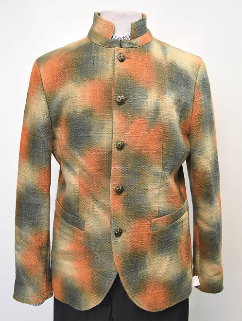 John Varvatos Orange & Green Tie Dye Woven Jacket Size 42R