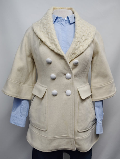 Mackage Cream Pea Coat Size Small