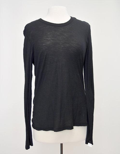 James Perse Black Long Sleeve Shirt Size Large