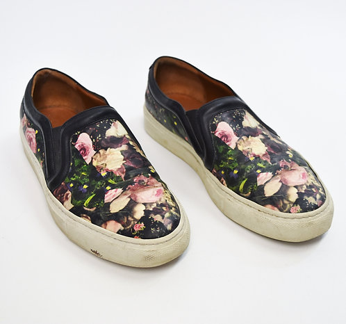 Givenchy Floral Leather Sneakers Size 7
