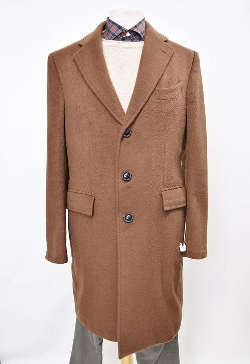 Ermenegildo Zegna Brown Cashmere Coat Size 42R