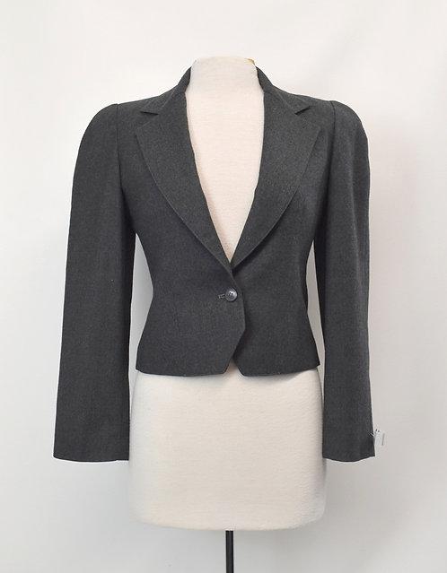 Christian Dior Gray Cropped Blazer Size Small (6)