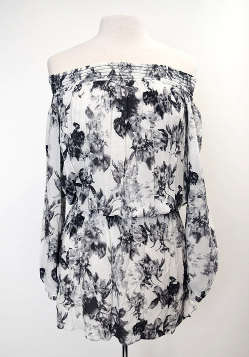 Intermix White Floral Dress Size Small