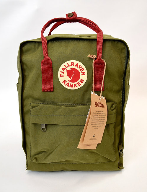 Fjall Raven Green Canvas Backpack