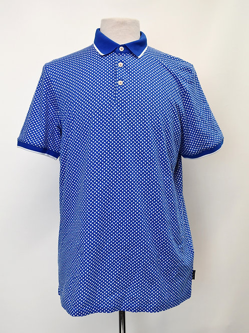 Ted Baker Blue Print Polo Size Large